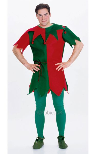 Unisex Economy Elf Fancy Dress Costume