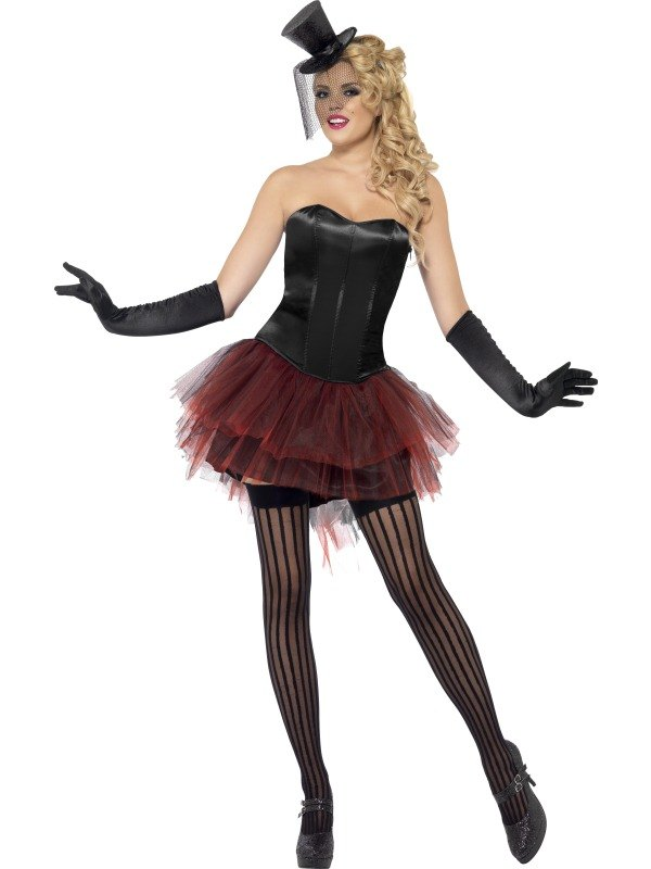 Burlesque Bustle Tutu Red