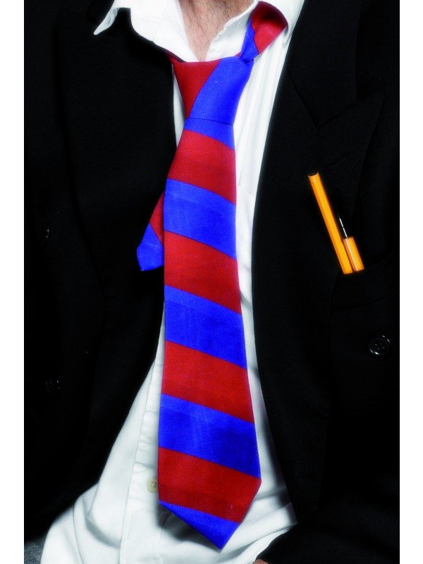 School Tie Red and Blue