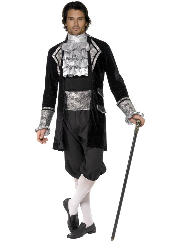 Male Baroque Vampire Fancy Dress Costume