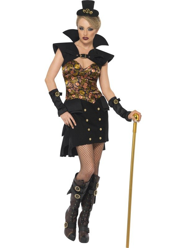 Steam Punk Victorian Vampiress Fancy Dress Costume