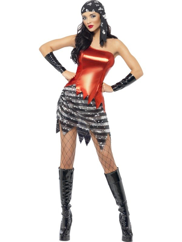 Flashy Pirate Fancy Dress Costume