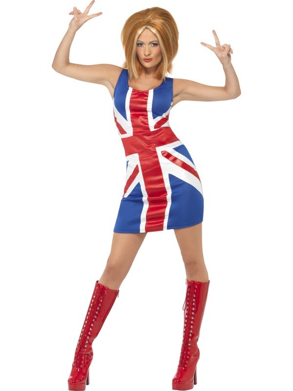 Union Jack Dress Fancy Dress Costume