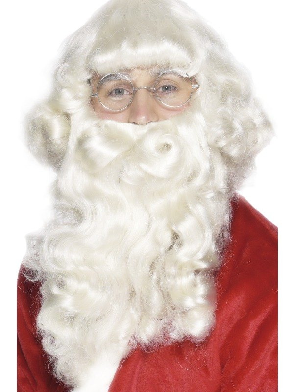 Santa Platinum Wig and Beard Set