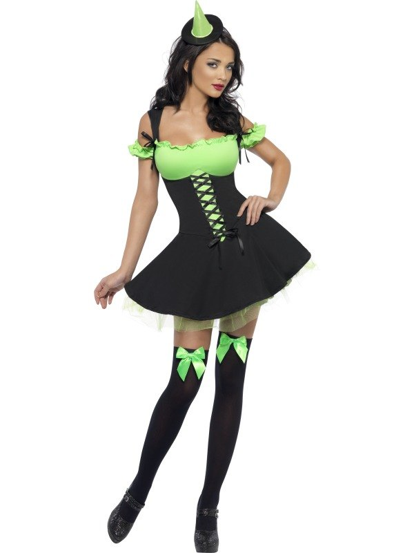 Wicked Witch Fancy Dress Costume Green