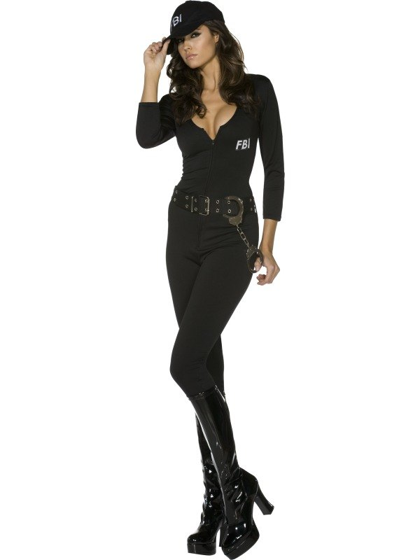FBI Flirt Fancy Dress Costume