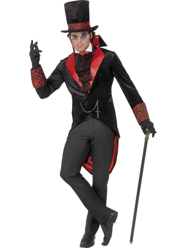 Black and Red Dracula Fancy Dress Costume
