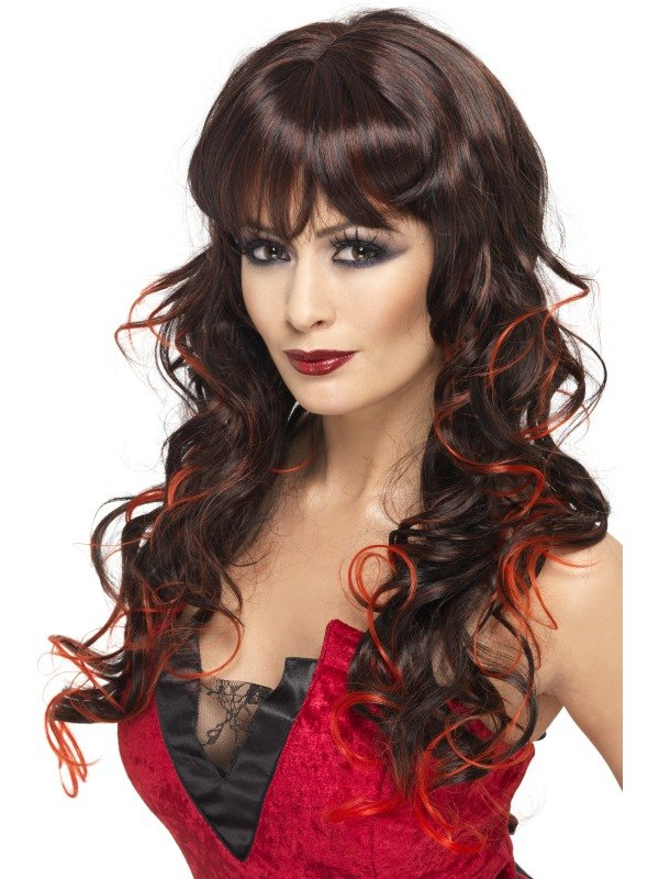 Black and Red Vixen Fancy Dress Wig