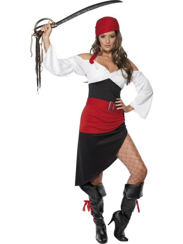 Sassy Pirate Wench Fancy Dress Costume