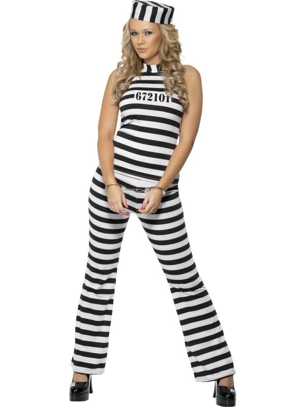 Convict Cutie Fancy Dress Costume