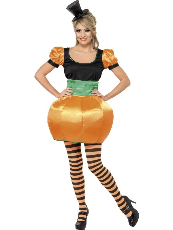 Ladies Pumpkin Fancy Dress Costume