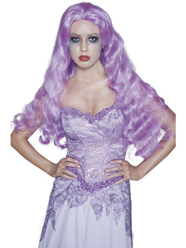 Purple Bride Fancy Dress Wig