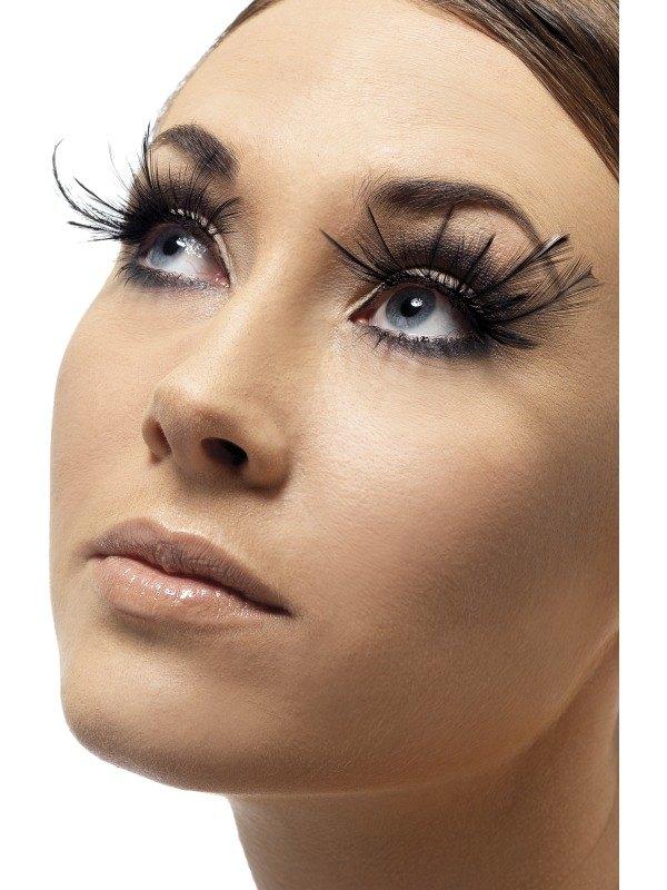 Eyelashes   Black with Plumes