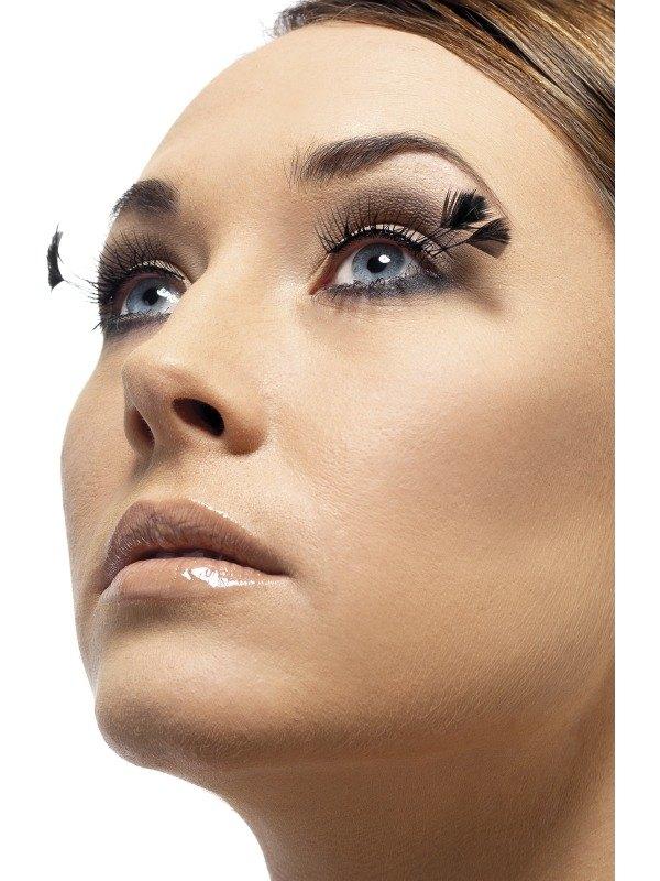 Eyelashes Black with corner Plumes