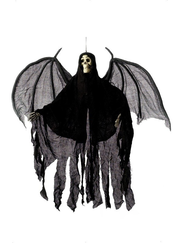 Hanging Skeleton with Robe and Wings