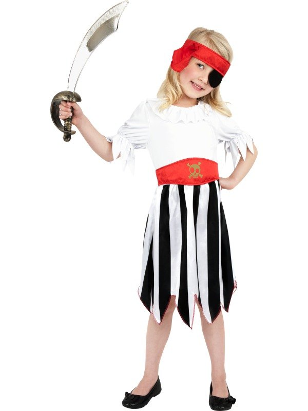 Girls Pirate Fancy Dress Costume