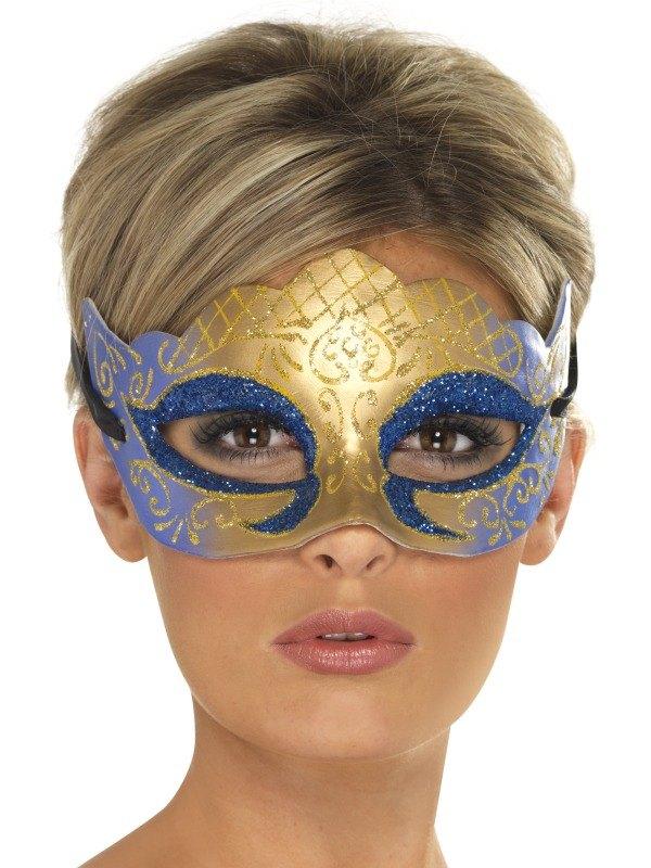 Venetian Colombina Farfalla Glitter Fancy Dress Mask