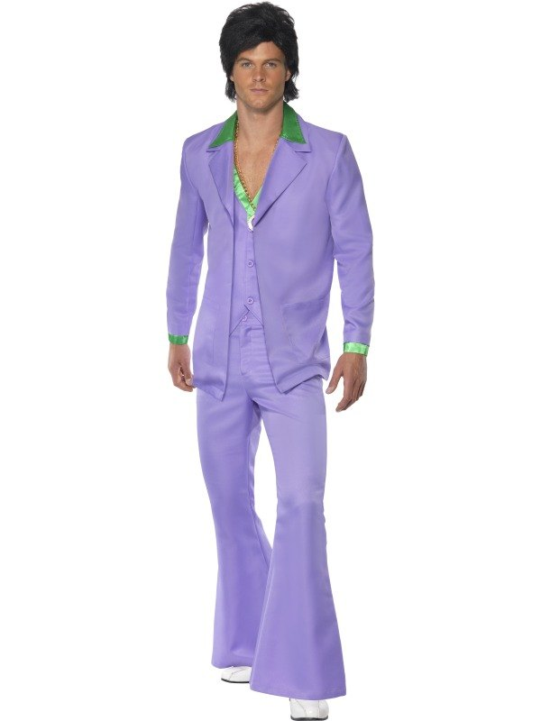 Lavender 1970s Suit Fancy Dress Costume