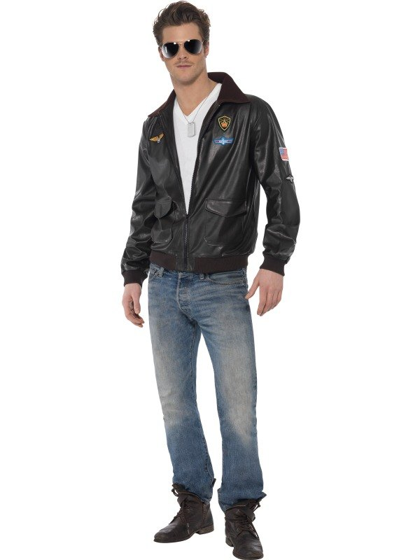 Top Gun Bomber Jacket Fancy Dress Costume