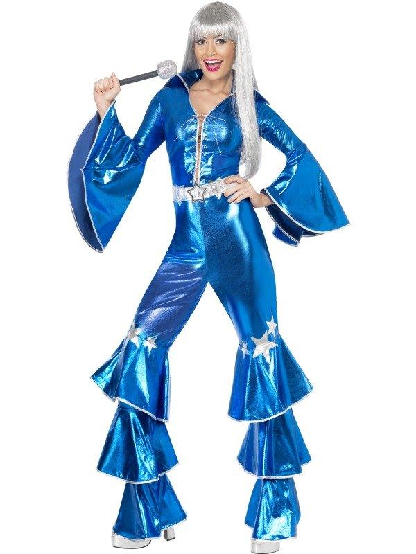 1970s Dancing Dream Fancy Dress Costume Blue
