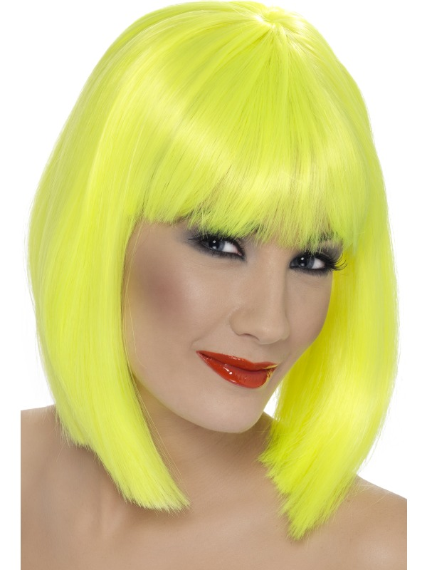 Glam Wig Neon Yellow