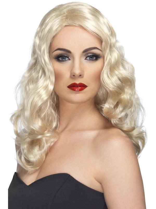 Glamorous Fancy Dress Wig Blonde