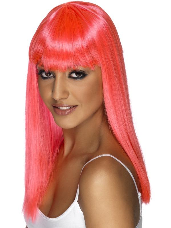 Glamourama Wig Neon Pink