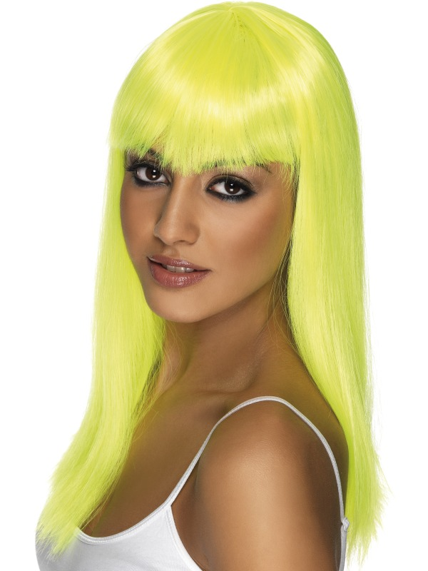 Glamourama Wig Neon Yellow