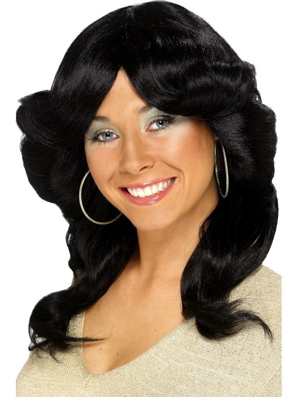 70's Flick Wig, Black