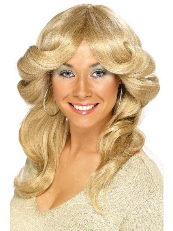 70's Flick Wig Blonde