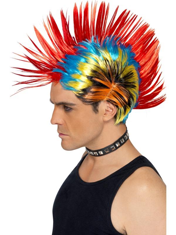80's Street Punk Wig, Mohawk