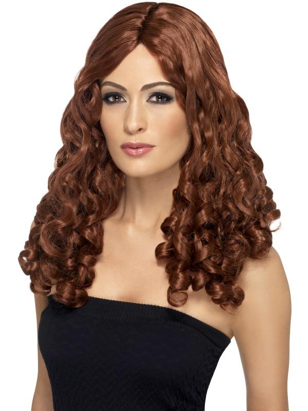 Film Star Wig, Curly Brown