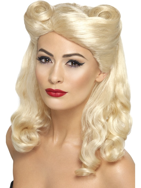 40's Pin Up Wig, Blonde