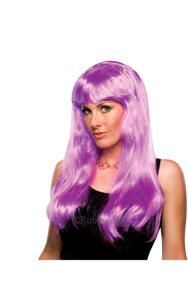 Glamour Fancy Dress Wig Magenta