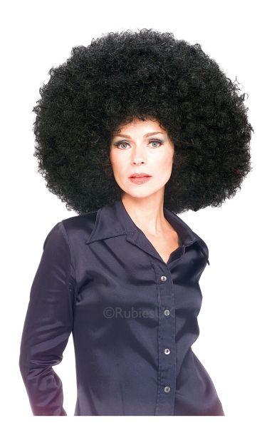 Super Afro Fancy Dress Wig Black