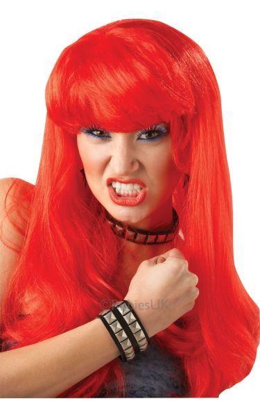 Glamour Fancy Dress Wig Red