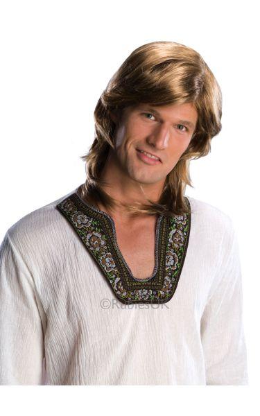 70s Guy Fancy Dress Wig   Blonde