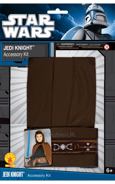 Kids Jedi Knight Fancy Dress Costume Blister Set