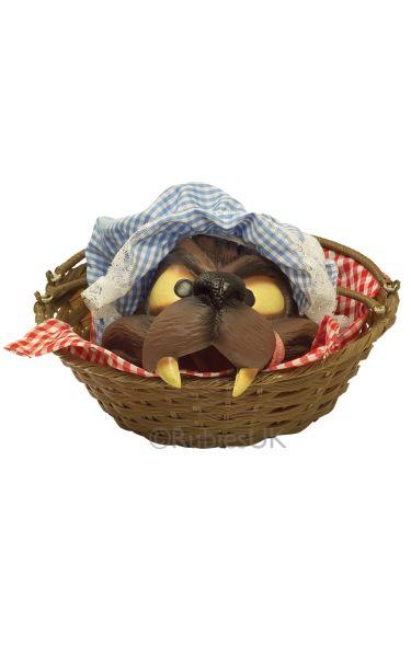 Wolfs head in a basket