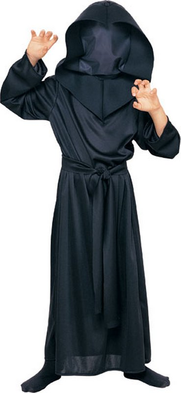 Kids Hidden Face Robe Fancy Dress Costume