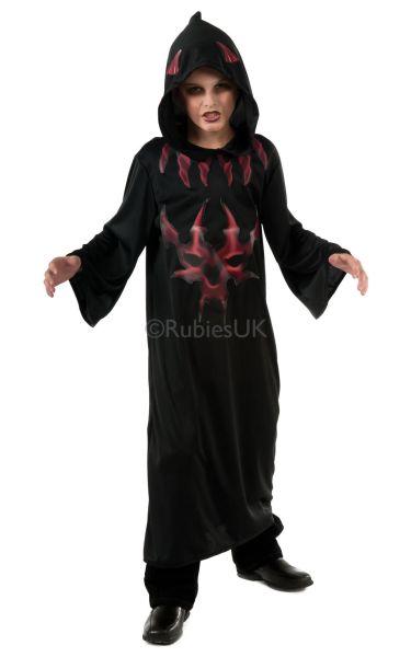 Kids Devil Robe Black/Red