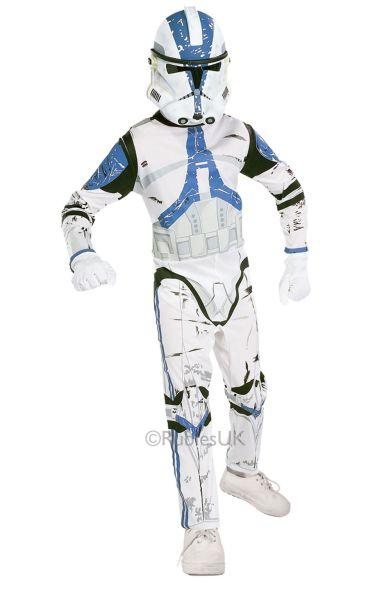 Childs Clone Trooper Fancy Dress Costume