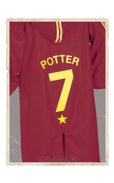 Childs Quidditch Robe Fancy Dress Costume
