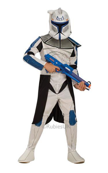 Boys Clone Trooper Captain Fancy Dress Costume