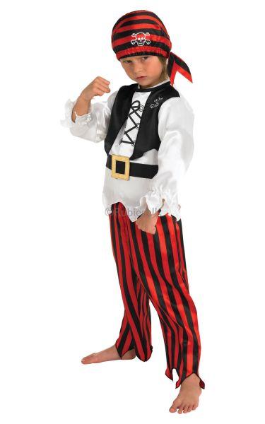 Boys Raggy Pirate Fancy Dress Costume