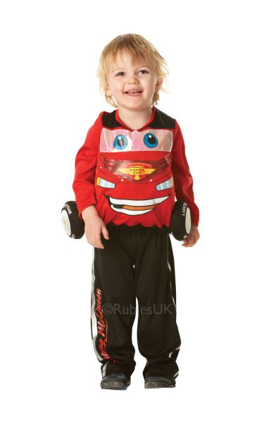 Cars 2 Lightening Mcqueen Padded Fancy Dress Costume