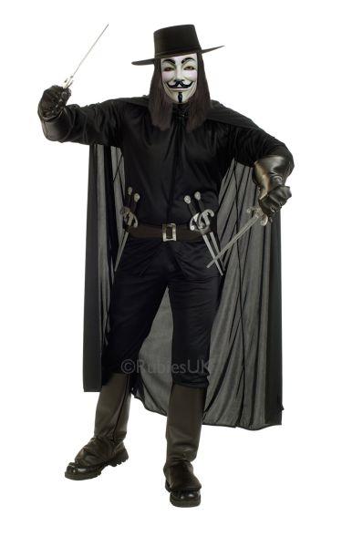 V For Vendetta Fancy Dress Costume