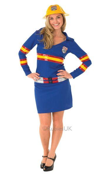 Firegirl Fancy Dress Costume