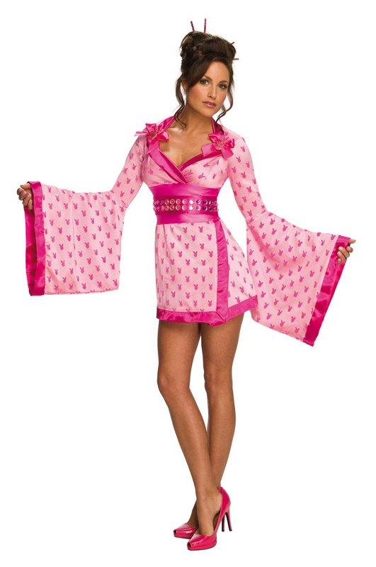 Playboy Geisha Girl Fancy Dress Costume