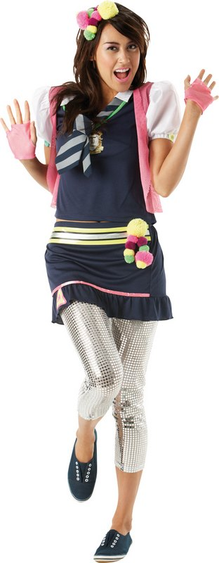 St Trinians Flammable Fancy Dress Costume